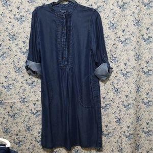 Lands End denim lightweight dress 14
